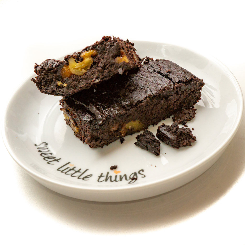 Vegan gluten-free sugar-free brownies